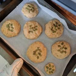 keto buns baking